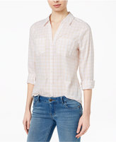 Maison Jules Cotton Gingham Shirt, Created for Macy's