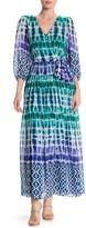 Calvin Klein Tie Dye Print Faux Wrap Maxi Dress