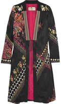 Etro Embroidered Satin-jacquard Jacket - Black