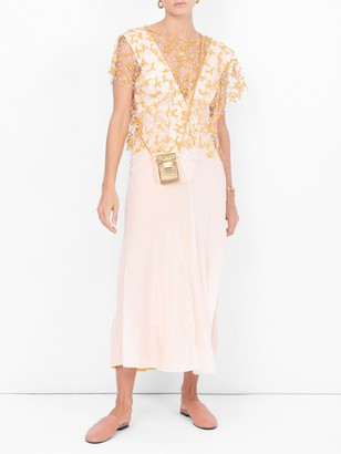 Haider Ackermann Draped V-neck Dress Pink