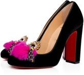 Christian Louboutin Mayapump 100 Version Black Velvet - Women Shoes