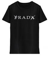 ROMWE PRADA Print Black T-shirt
