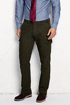 Classic Men's Straight Fit Broken Twill Cargo Pants-Olive Broken Twill