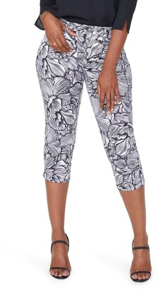 Curves 360 by NYDJ Print High Waist Slim Straight Crop Jeans