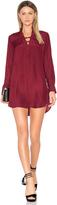 David Lerner Silk Lattice Shirt Dress
