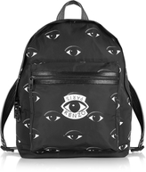 Kenzo Black Fabric Multi Eye Backpack