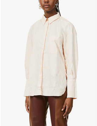 BITE Studios Crinkled organic-cotton shirt