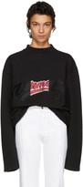 Vetements Black Embroidered Bro Sweatshirt