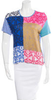 Jonathan Saunders Short Sleeve Patterned top