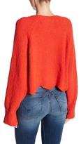 Cotton Emporium Scalloped Hem Cropped Sweater
