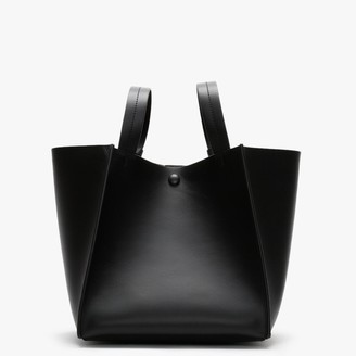 Sophie Hulme Cube Black Leather Shoulder Bag