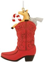Midwest Red Cowboy Boot With Toys Ornament