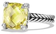 David Yurman Chatelaine Ring with Lemon Citrine and Diamonds