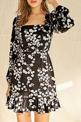 Forever 21 Floral Satin Mini Dress