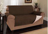 Furniture Fresh - New and Improved Anti-Slip Grip Furniture Protector with Stay Put Straps and Water Resistant Microsuede Fabric (XL Sofa, Chocolate
