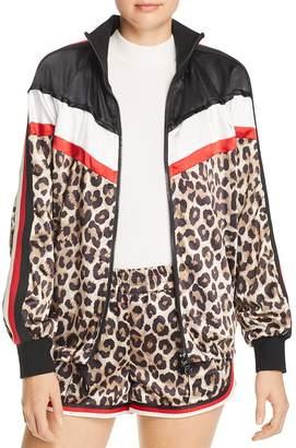 Pam & Gela Leopard & Color-Block Jacket