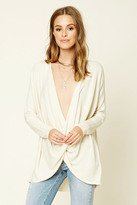 Forever 21 FOREVER 21+ Contemporary Twist-Hem Sweater