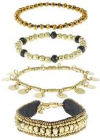 Pieces PCMIA 4 PACK Bracelet goldcoloured