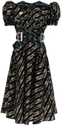 Chopova Lowena Midi Dress In Organza