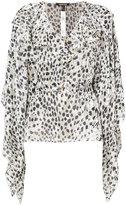 Roberto Cavalli leopard jacquard blouse