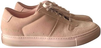 Common Projects Pink Suede Flats