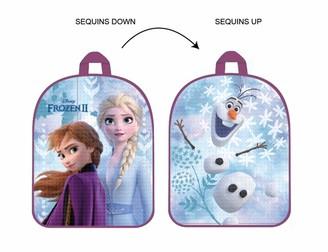 Disney Girls' Mochila Reversible Lentejuelas Frozen Daypack