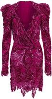 Amen Embroidered Sequin Baroque Dress
