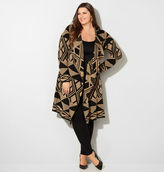 Avenue Jacquard Hooded Duster Cardigan