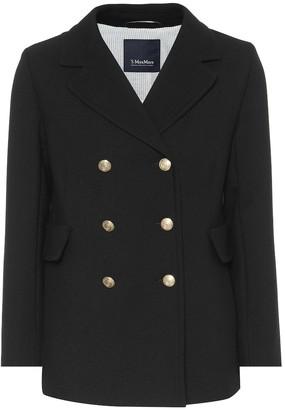 S Max Mara Rana wool-blend crepe coat