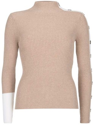 Mint Velvet Camel Blocked High Neck Jumper