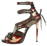 Tabitha Simmons Fillippa Snakeskin Sandals
