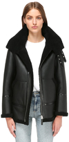 Leia-Sp Classic Shearling Coat With Hood