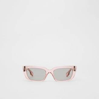 Burberry Bio-acetate Rectangular Frame Sunglasses