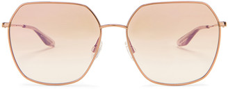 Barton Perreira Sotera Sunglasses in Rose Gold & Xanadu | FWRD