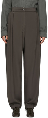 Lemaire Grey Silk Soft Trousers