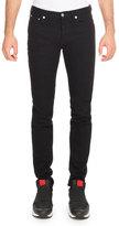 Givenchy Star-Side Denim Skinny Jeans, Black