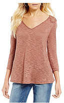 Jessica Simpson Murielle Lace-Up-Back Knit Top