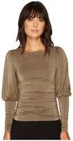Nicole Miller Elizabetta Puff Sleeve Top Women's Short Sleeve Pullover