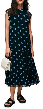 Whistles Margie Spot Print Midi Dress
