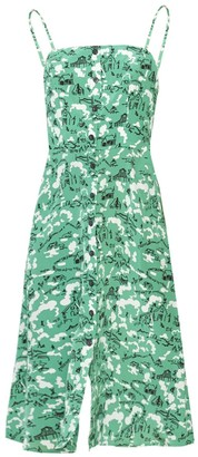 HVN Atlanta Button Front Dress, Green Montana Barn
