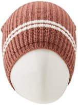 Charlotte Russe Striped Ribbed Knit Beanie