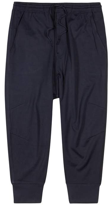Y-3 Y 3 Navy Striped Jersey Jogging Trousers