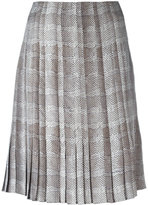 Salvatore Ferragamo pleated print skirt