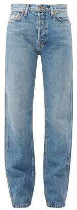 RE/DONE High Rise Loose Jeans - Womens - Denim