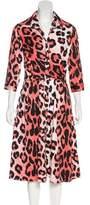 Samantha Sung Leopard Print Midi Dress w/ Tags