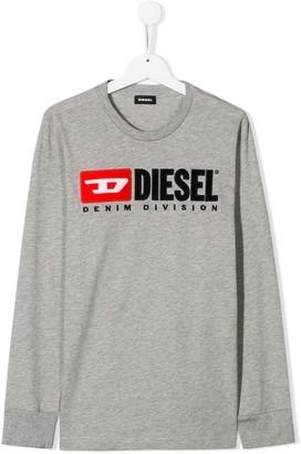Diesel TEEN logo print top