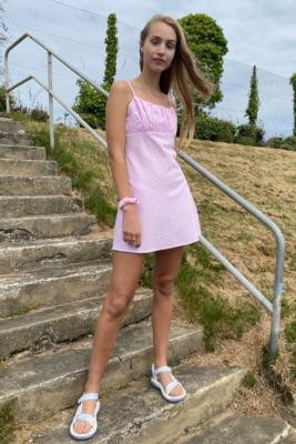 Urban Renewal Vintage Urban Outfitters Archive Jesse Gingham Dress - Pink M at Urban Outfitters