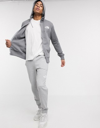 The North Face Half Dome full zip hoodie in gray