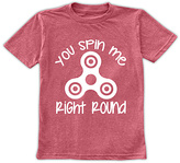 Urban Smalls Heather Red 'You Spin Me Right Round' Tee - Toddler & Boys