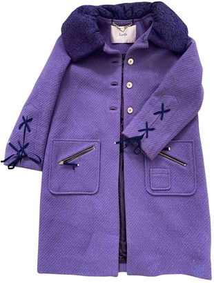 Luella Purple Wool Coat for Women